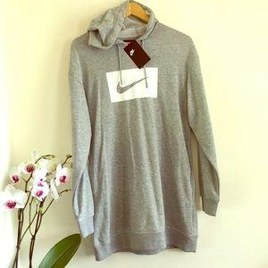 NWT Nike Sportswear Long Sleeve Hooded Dress SM